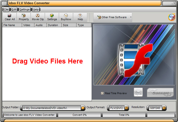 idoo Video to flv Converter
