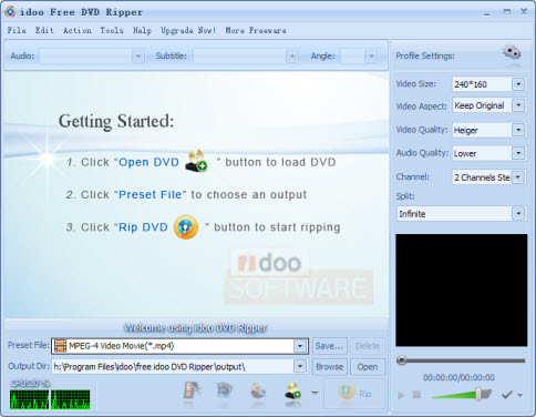 Windows 8.1 blue Free DVD Video Converter software, Free DVD Video ... Insert the DVD which you want to rip into your DVD drive. And open it with  idoo Free DVD Ripper.( Free Download now!)