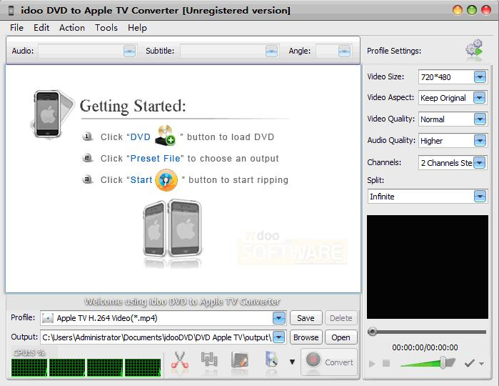 convert DVD to any Apple TV formats